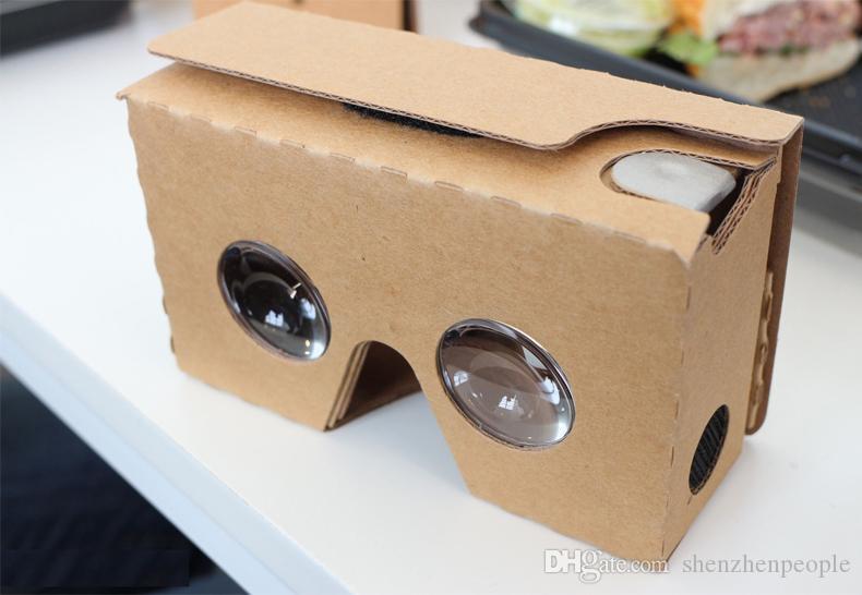 ULTRA TRASPARENTE fai da te Google Cardboard 3D qualità 3D VR occhiali di realtà virtuale i 5,0