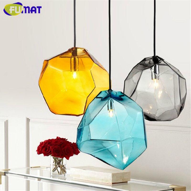 Attrayant Fumat Glass Pendant Light Blue Yellow Smoke Grey Haning Lamp For Dinning  Room Cafe Bar Lamp Modern Indoor Lighting Fixture Cheap Pendant Lights  Ceiling ...