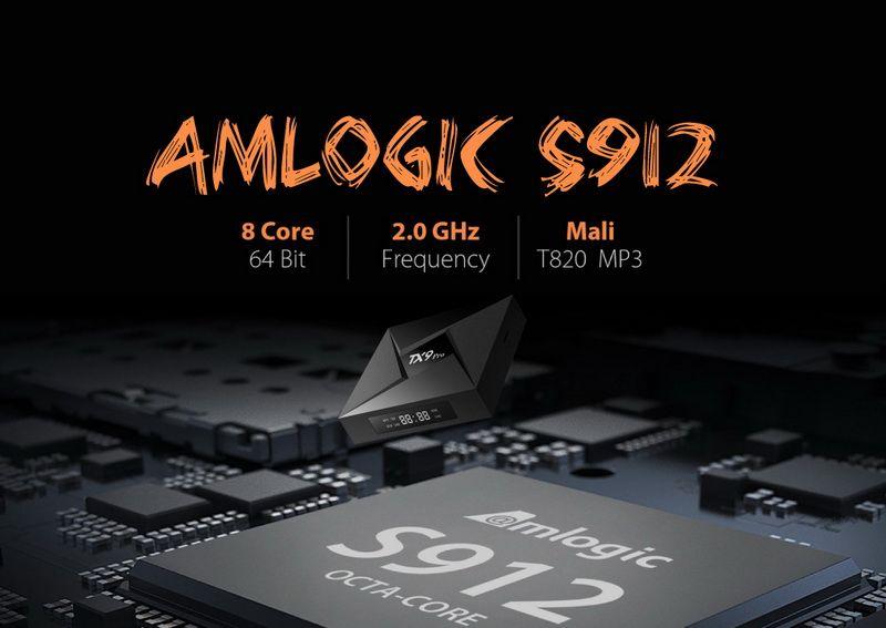 TX9 Pro Amlogic S912 3GB DDR3 32GB Octa Core Android 7.1 TV BOX 2.4/5Ghz WIFI Bluetooth 1000M LAN 4K H.265 Smart Media Player VS TX8 Max