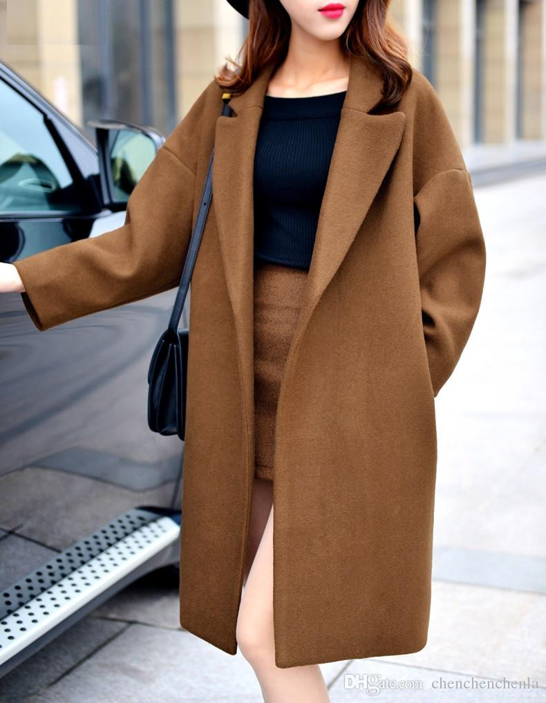 2018 Oversized Wool Coat With Quilting Winter Warm Trench Coats ...