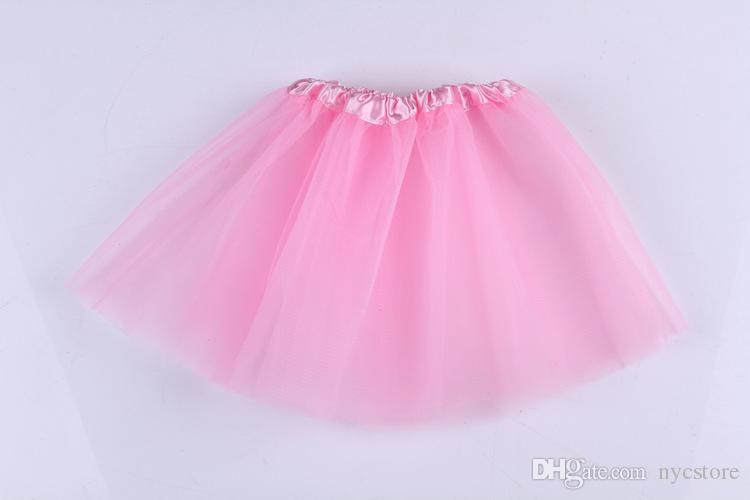 Neonate Bambini Bambini Danza Tulle Tutu Gonne Pettiskirt Dancewear Tutu abiti Ballet Dress Gonne Costume la festa di Natale