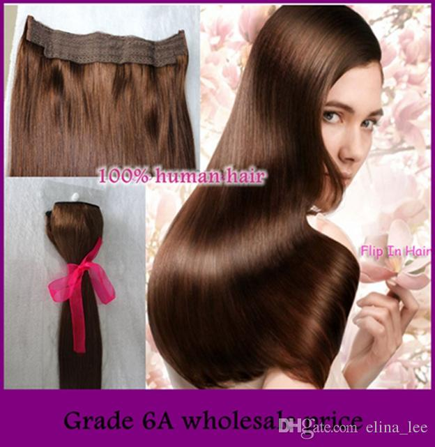 Top Quality Halo Hair Extensionfish Wire Hair Extension Flip In