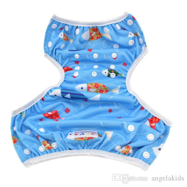 Bez Bezi Alva Bebek Yüzmek Bezi Pantolon Yıkanabilir Kullanımlık Bir Boyut Nefes Kapak Yüzme Sandıklar Sızdırmaz Su Geçirmez Nefes Adj