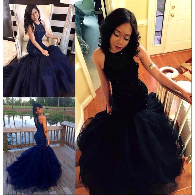Special Occasion Mermaid Evening Dress 2018 High Quality Beading Prom Gowns  Sleeveless Formal Women Dresses Vestido De Festa Evening Dresses Long  Sleeves ... d8b23e711364