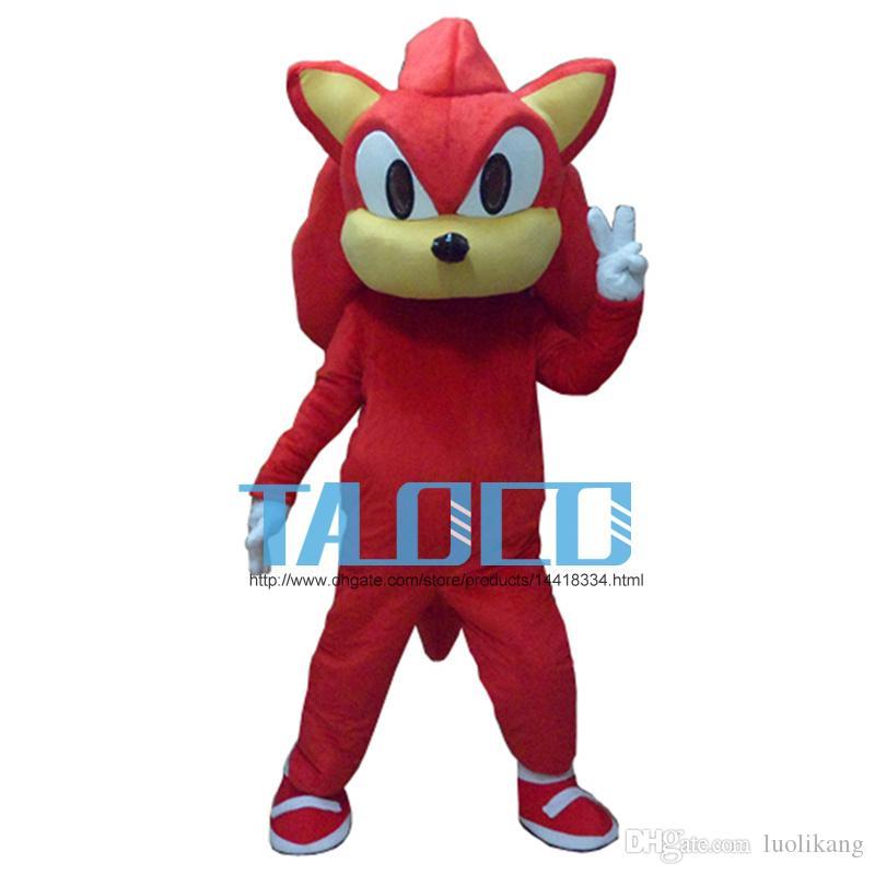 Schatten das Igel-schwarze Sonic-Maskottchen-Kostüm-Abendkleid-Erwachsen-freies Verschiffen
