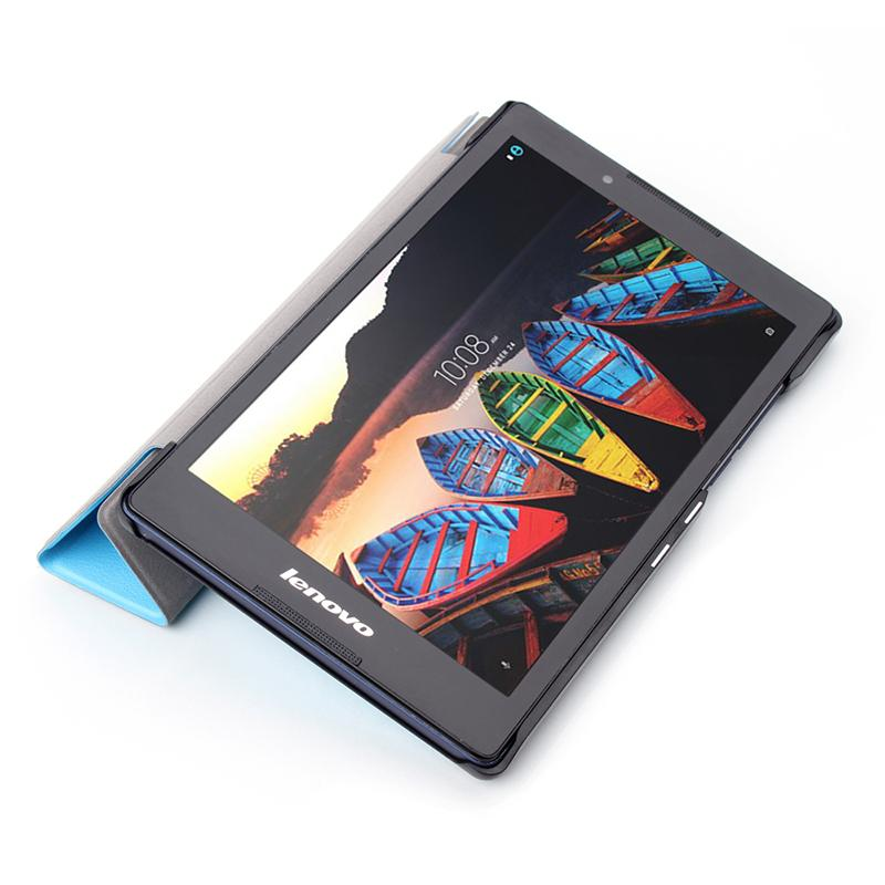 High PU Leather Tri Fold Tablet Magnetic Case For Lenovo Tab 3 8.0 inch TB3-850F TB3-850M +Pen