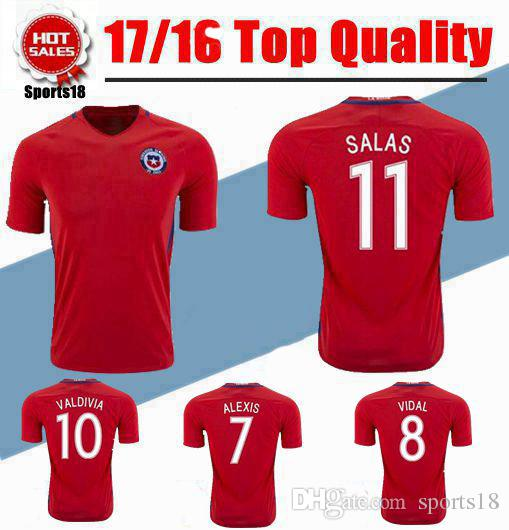 ... clearance 2017 chile national team soccer jersey 16 17 conmebol campeon  2016 chile champions home red 37a88c76e