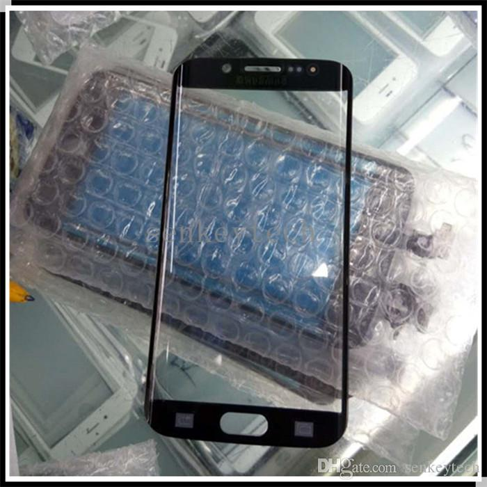 For Samsung Galaxy S6 Edge Glass Screen Replacement Mobile Phone Front Glass Panel Parts Original Front Glass Outer Lens For S6 Edge