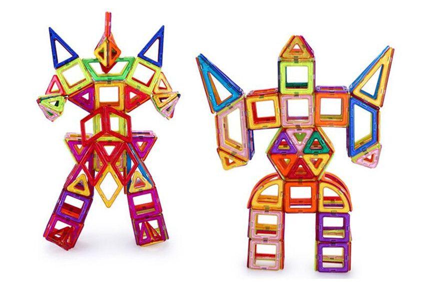 Магнитные игрушки Строительные плитки Блоки набор для детей 103 шт. Подобные магнитные игрушки для детей, детские образовательные игрушки, играющие на магнитные игрушечные кирпичи