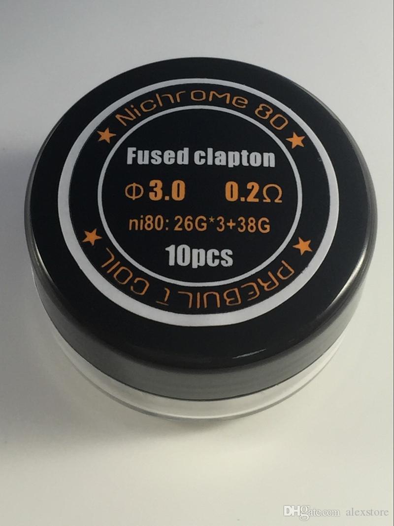 4 가지 스타일 Fused Clapton Tri 트위스트 Clapton Gatlin NI80 프리 빌트 코일 니크롬 80 와이어 Pre-built 코일 Preape Wrap 전선 가열