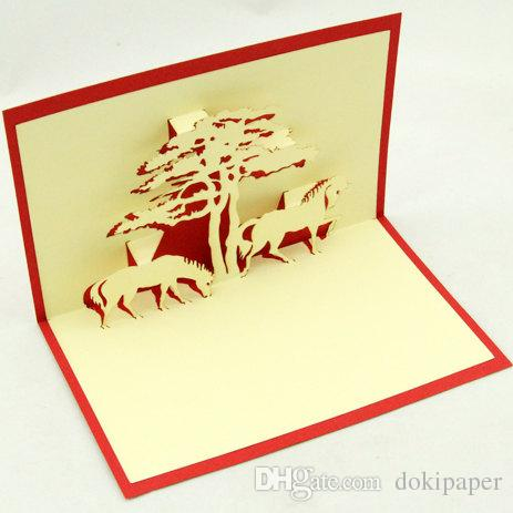 Horse greeting card pop up card 3d horse card gift card wedding horse greeting card pop up card 3d horseg m4hsunfo