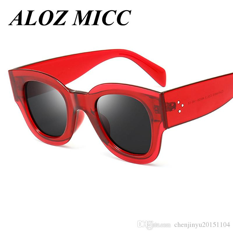 Compre Aloz Micc Mujeres Retro Trend Oval Gafas De Sol Hombres Remaches Clásicos  Gafas Tonos Diseñador De La Marca Gafas De Sol Para Mujer Gafas De Sol A364  ... 522858bb5d7c