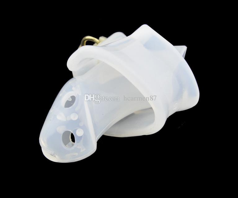 Produits pour adultes Stinging Silicone Mâle Chastity Lock Dispositif de Chasteté En Plastique Chastity Belt Cock Cage Bague De Pénis BDSM Bondage Sex Toys