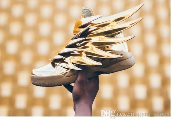 a3bf18f2b0e1 Hot Selling 2016 New Design JS Wings 3.0 Fashion Lovers Causal Wings GOLD  Men Women Leisure Sneakers Cheap Shoes Online Summer Shoes From Gym shoes