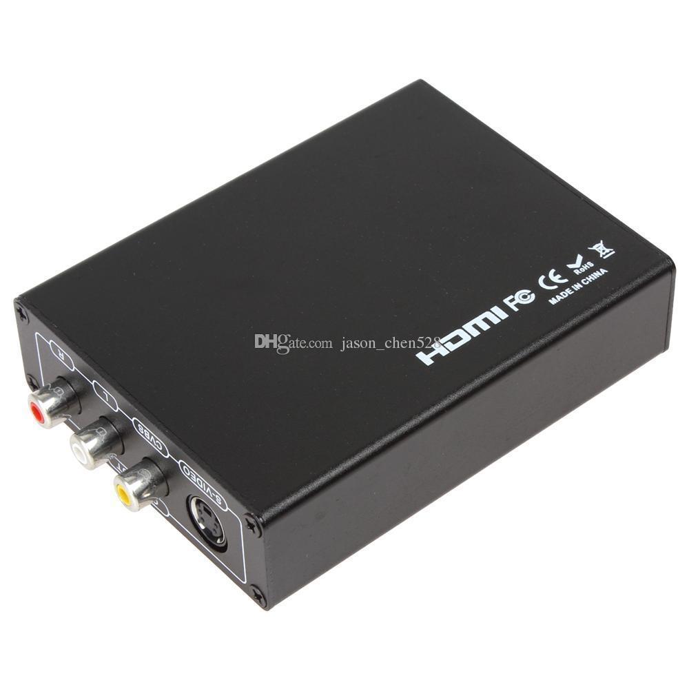 Conversor de vídeo HDMI HDMI 720 P Portátil / 1080 P para Composite AV / S-Video Converter com caixa de varejo frete grátis