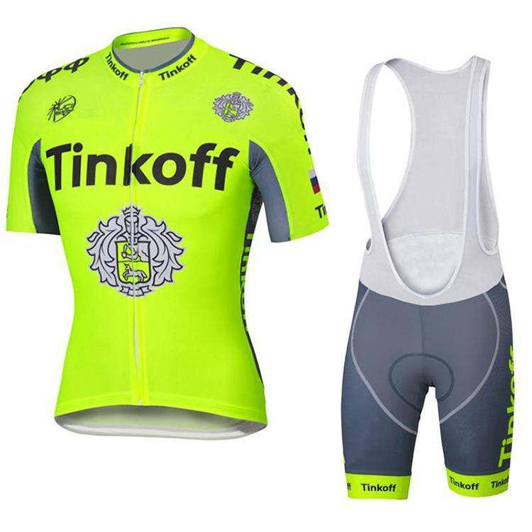 d8fbd1002 2016 Top Sale Tinkoff Saxo Bank Cycling Jersey Set Yellow Fluo Color ...