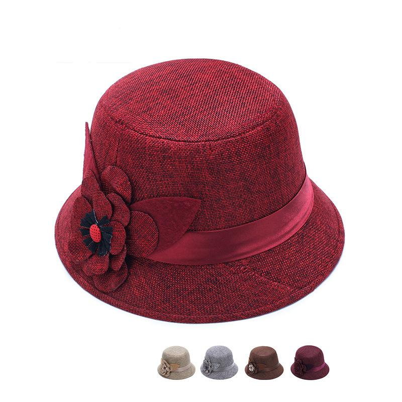01a75d7ce80 Spring Summer Linen Women Bucket Hats Fashion Street Stingy Brim ...