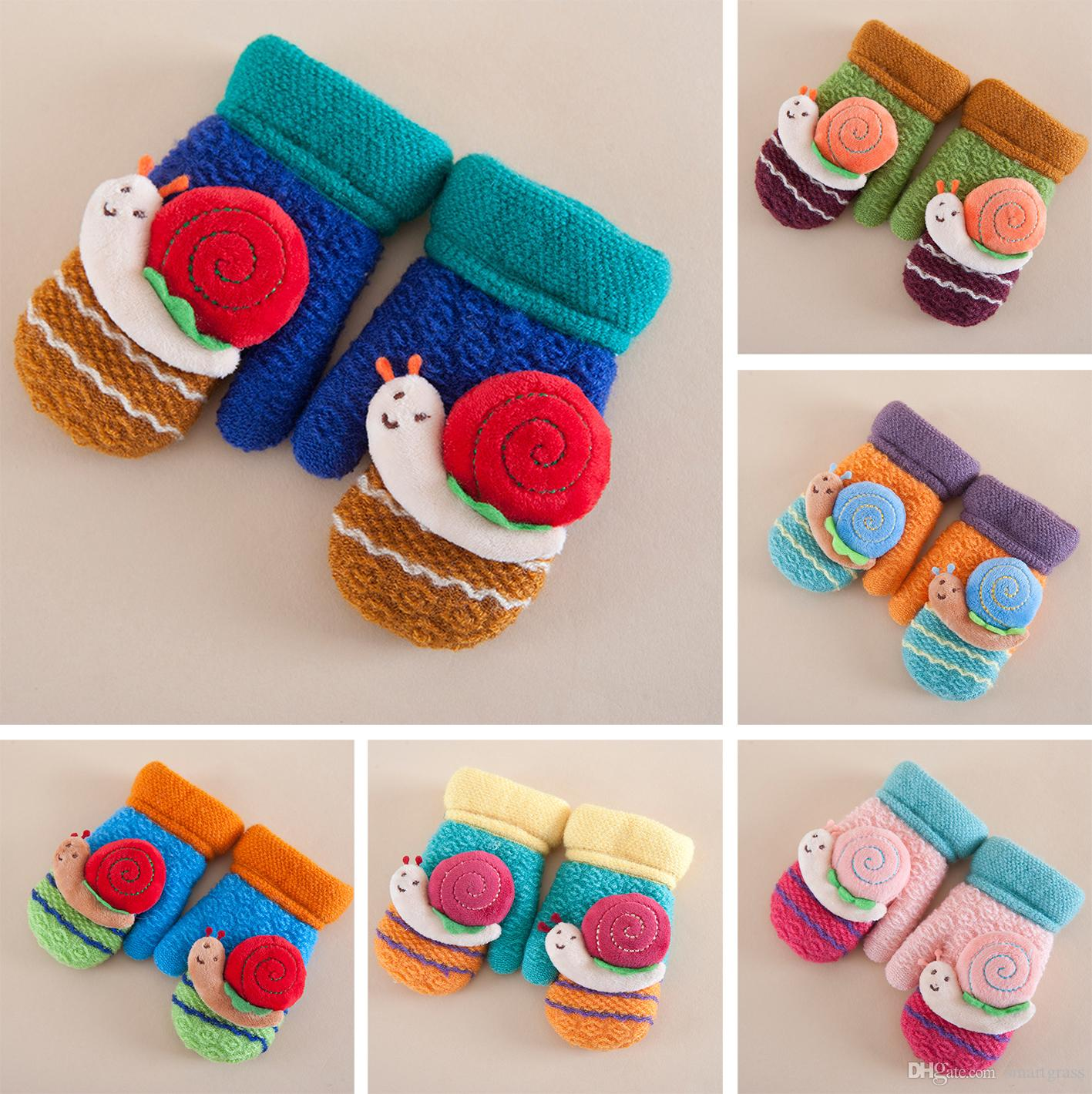 4929ea1ce928 Baby Knitting Winter Gloves Cute Fingerless Children Mittens Winter ...