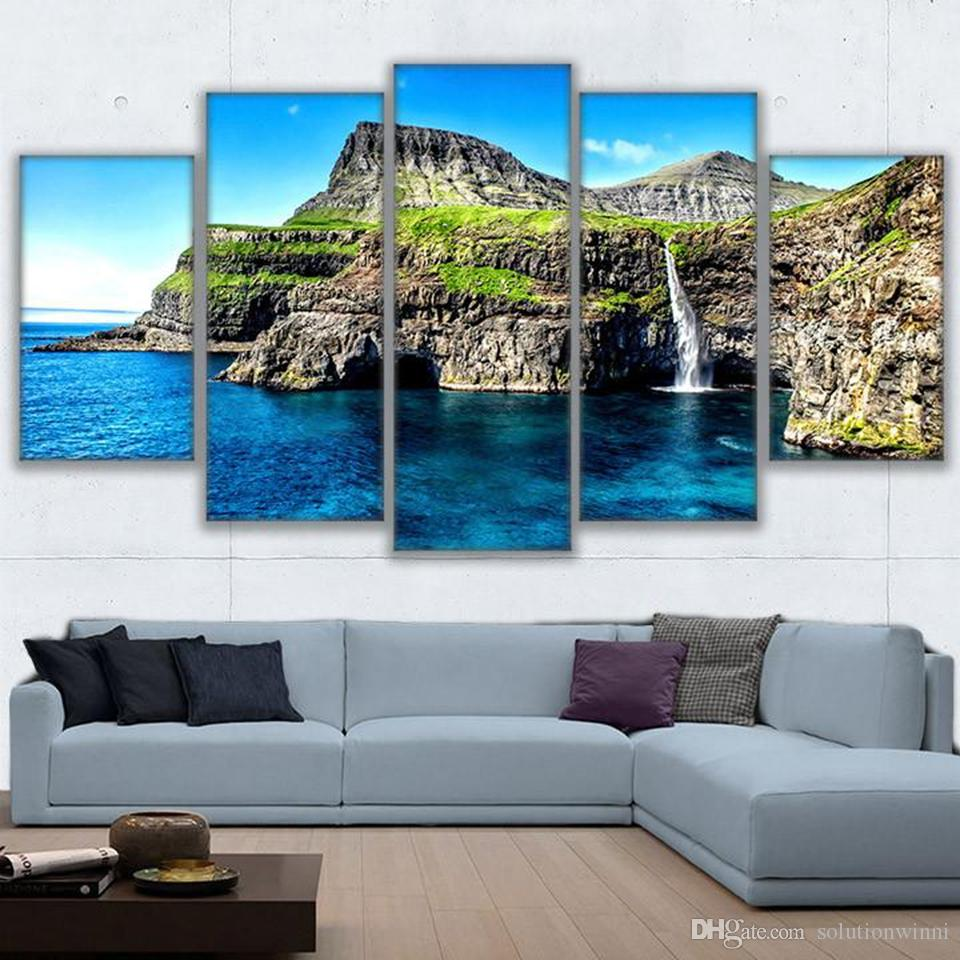Island paradise Canvas Wall Art Picture Print