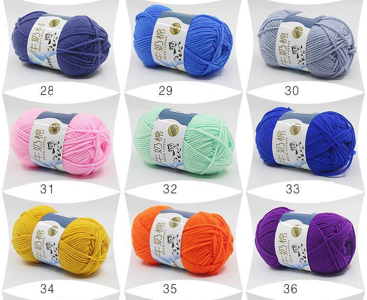 500g High Quality Warm DIY Milk Cotton Yarn Baby Wool Yarn for Knitting Children Hand Knitted Yarn Knit Blanket Crochet