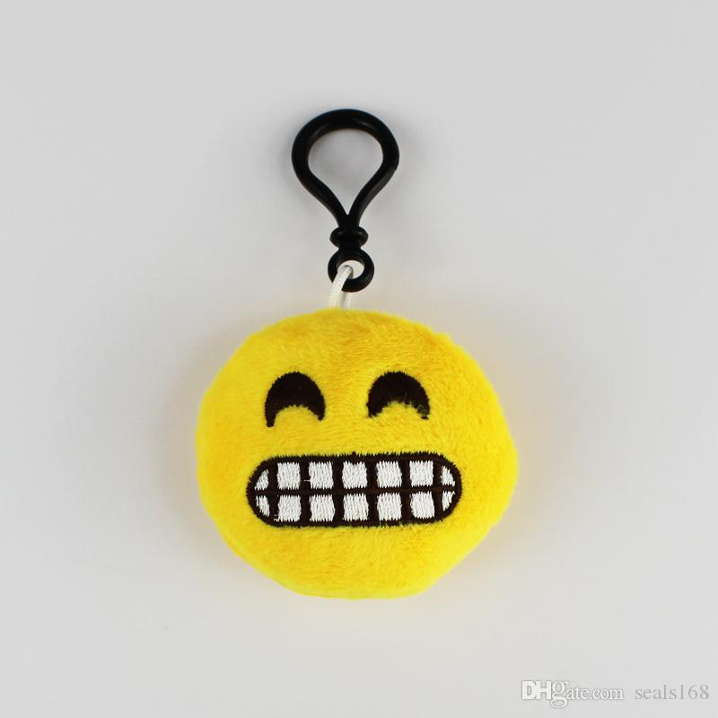 6 * 2 cm Weiche QQ Ausdruck Smiley Plüschtiere Emoji Gefüllte Puppe Cartoon Keychain Telefon Auto Handtasche Anhänger Schlüsselanhänger Geschenke HH7-58