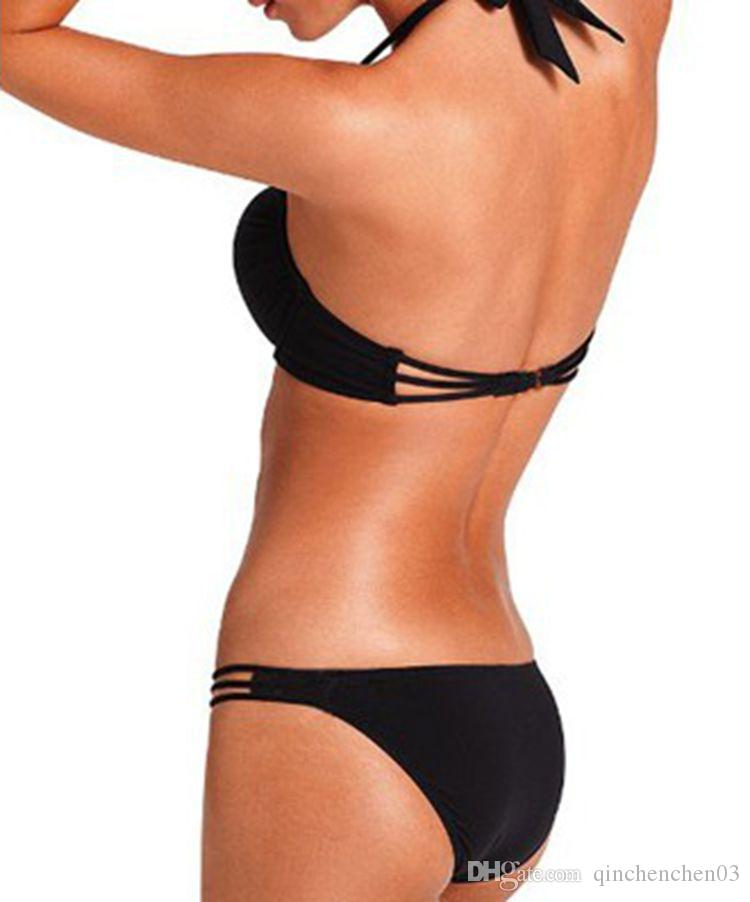 Top Sexy Ladies Girl Push Up Bikini Padding bandage Bikini Set Fashion Swimsuit String Micro Brazilian swimwear