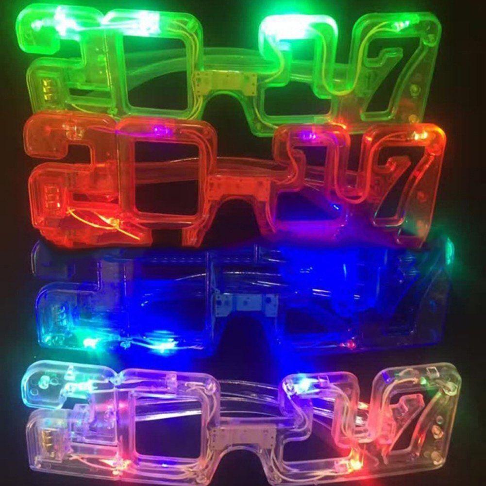 LED glow glasses 2018 Flash glasses Toy dance Light Up Led lampeggiante occhiali Halloween Christmas Birthday Party Eyewear