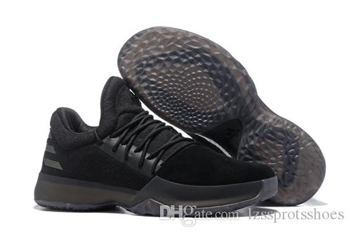 322704d2550 2019 2017 New Harden Vol. 1 Mens Basketball Shoes Black White Orange  Wholesale Fashion James Harden Shoes Sneakers Size 40 46 From Lzssprotsshoes