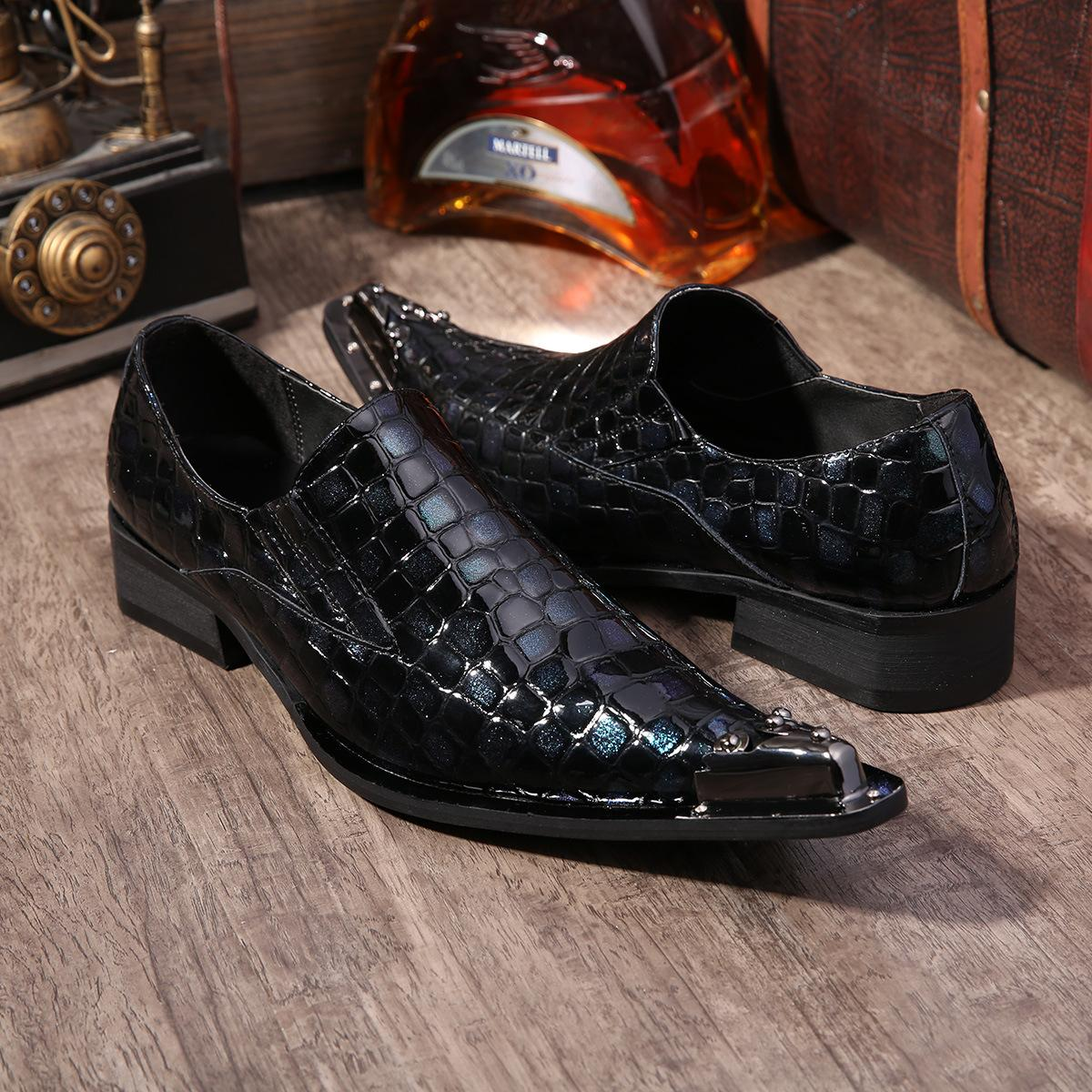 japanese style casual leather shoes dress height