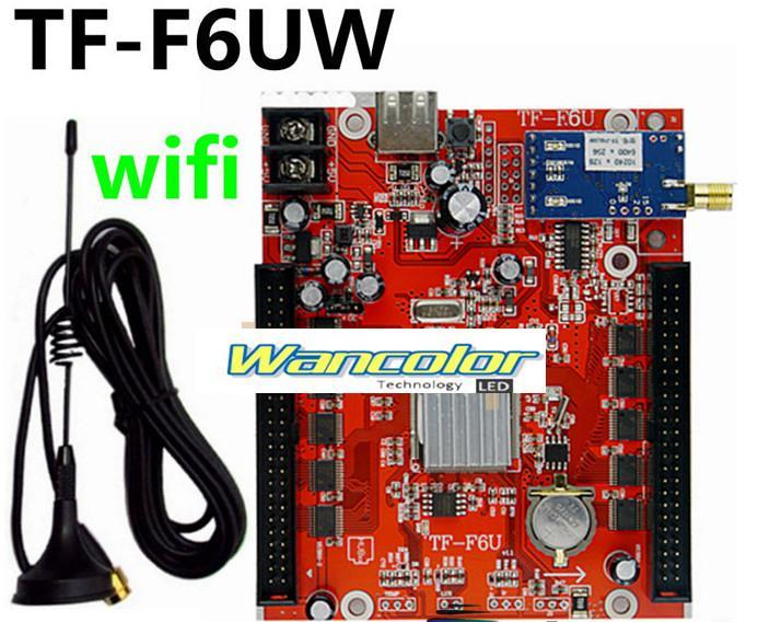무료 배송 TF-F6UW 무선 WIFI 통신 LED 컨트롤러 카드 지원 단일, 듀얼, 풀 컬러 LED 모듈