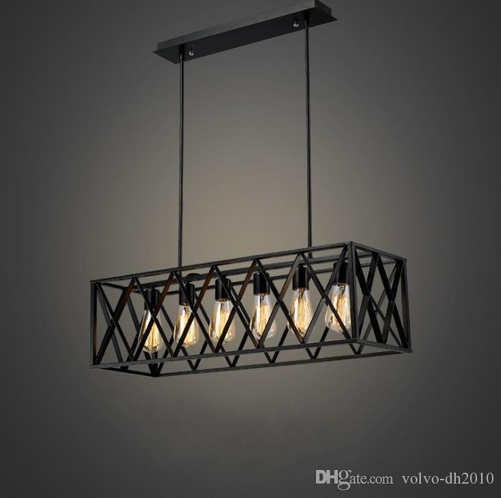 Free shipping vintage retro iron chandelier american industrial iron art simple living room coffee shop chandelier llfa vintage retro iron chandelier american industrial iron art simple living room coffee shop chandelier llfa low voltage pendant lighting  Choice Image