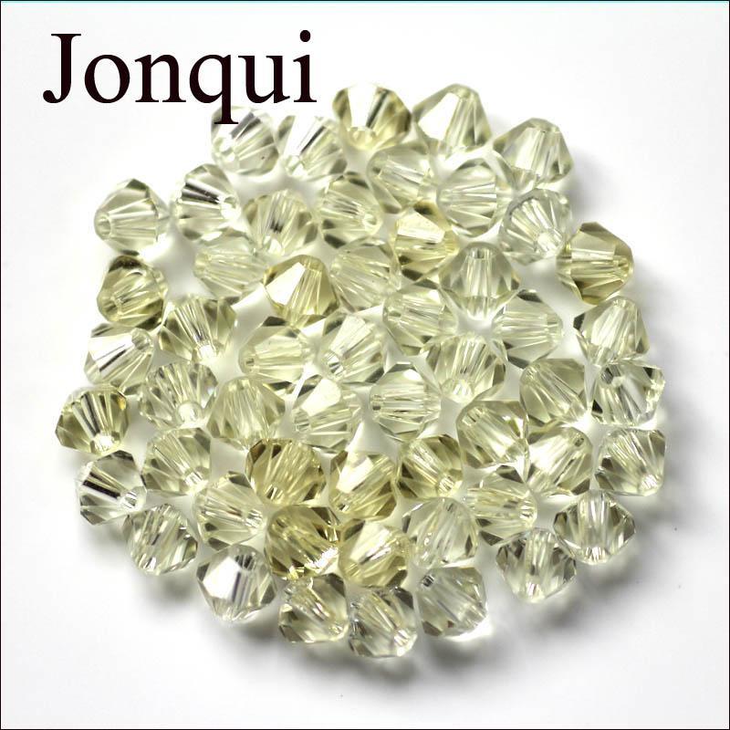 Moda Jóias DIY Bicone Beads Mix Cor Transparente 5301 Cristal De Vidro Facetado Quartzo 4mm Bicone Solto Spacer Beads 1500 pçs / lote Atacado
