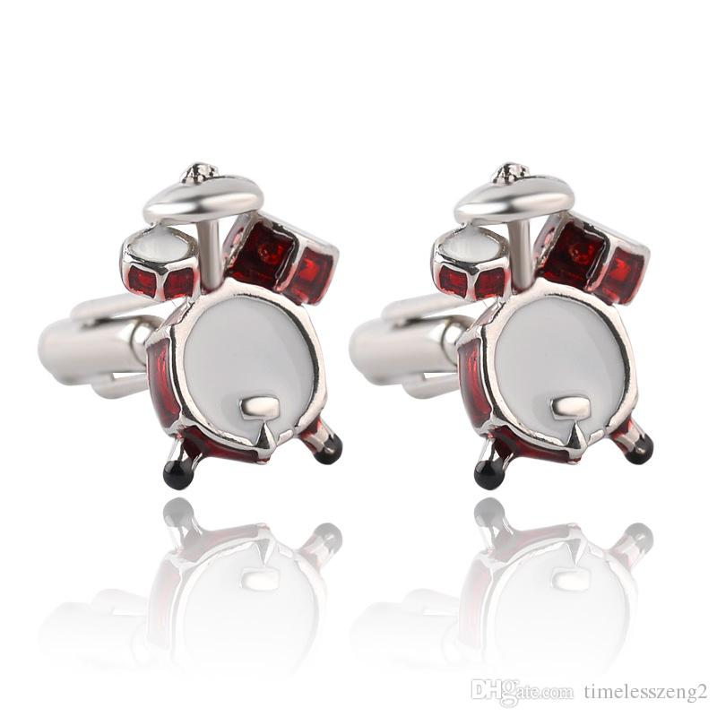 Europe and United States hot style cuff links The band drums and musical instruments guitar shape cufflinks Hot selling jewelry