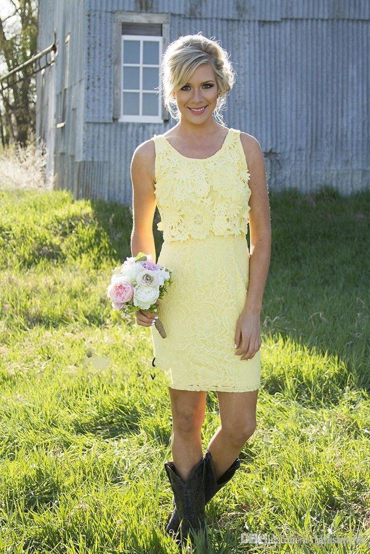 2020 Dentelle Mini courte robes de demoiselle d'honneur de style convertible formelle de robe de demoiselle d'honneur junior Robes de soirée de mariage Country Style