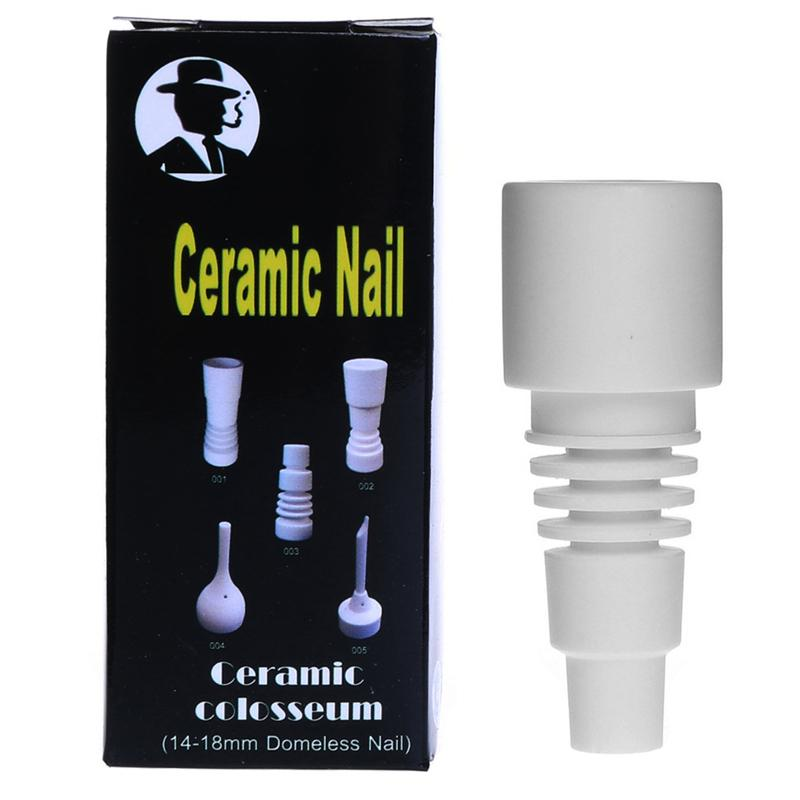 Курение Dogo 2016 Domeless Керамический гвоздь с универсальным 10 мм 14 мм мужской сустав подходит для стекла воды бонги и трубы