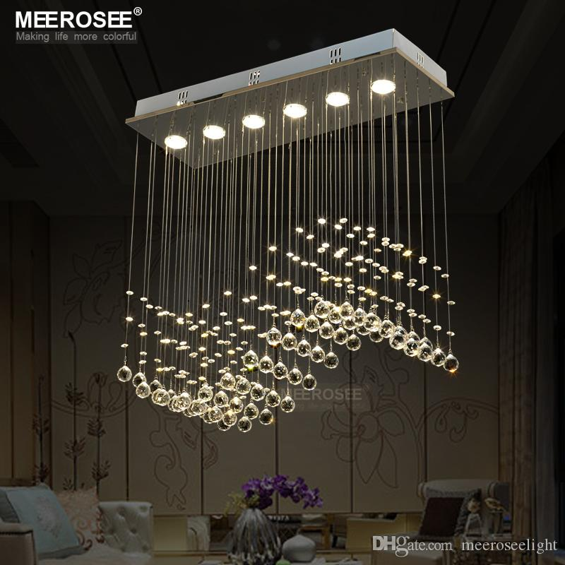 Fast Shipping Crystal Chandelier Light crystal curtain wave light fitting for Dining room, bedroom, foyer and ceiling MD8495