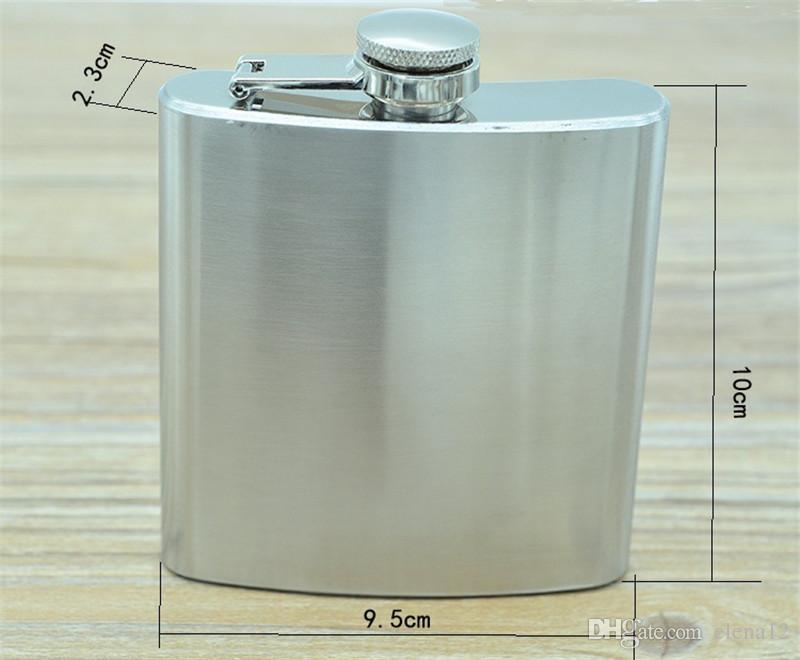 Карманная фляга из нержавеющей стали на 6 унций с воронкой переносная мини-ликерная спиртовая винная фляга Карманная фляга для виски Flagons 240408