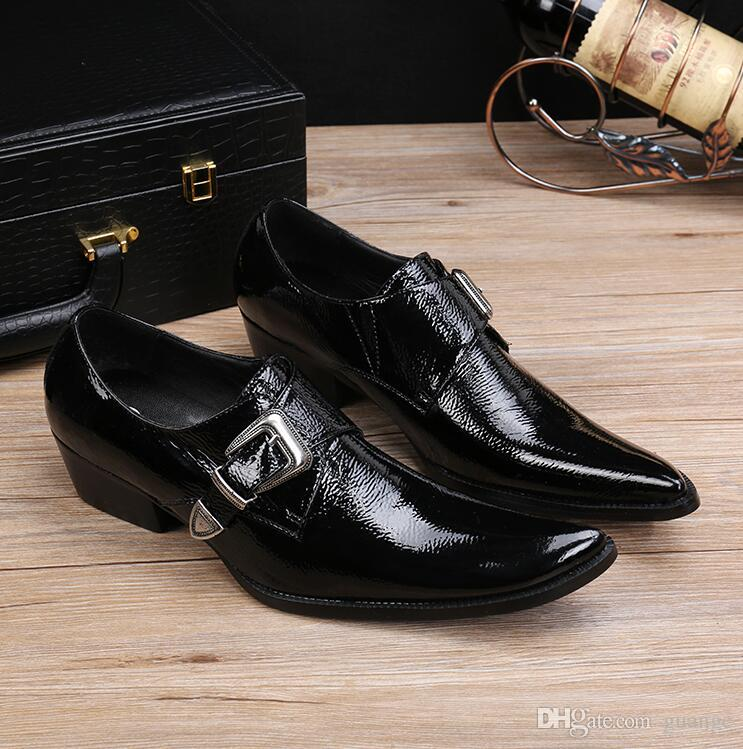 New Luxury Italian Hand Painted Business Dress Shoes Unique Grooms Shoes Black Genuine Leather Flats hairdresser shoes Z148