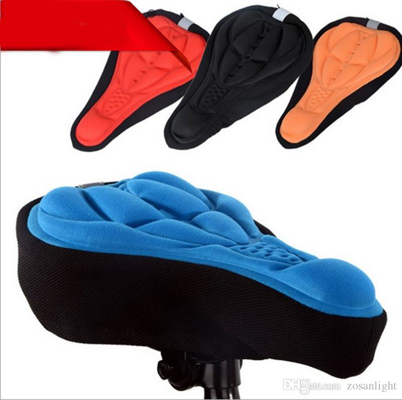 4 color Cycling Bike Saddles 3D Comfortable Silicone Gel Seat Cover Cushion Soft Bicycle Pad Mountain Bike Parts Accessories Cushion Cover