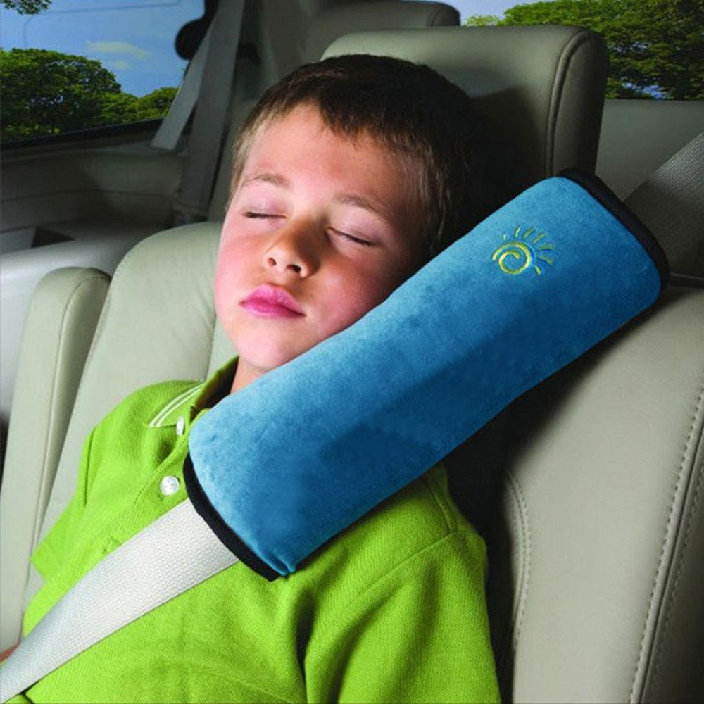 Car travel neck pillow airplane safety seat belt harness shoulder pad cover children protection covers cushion support pillow car seat pads for leather