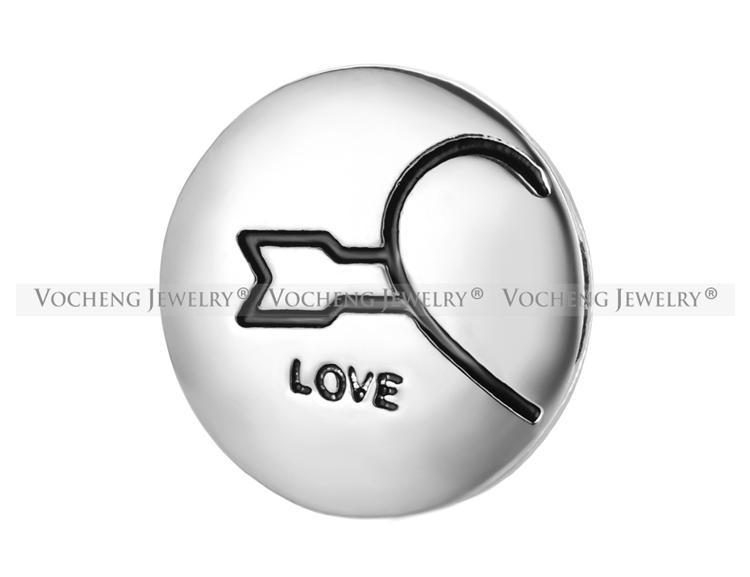 VOCHENG NOOSA Sevgililer Günü Hediyesi 18mm Aşk Size Çift Kalp Zencefil Çırpıda Takı Vn-1005