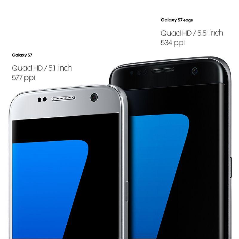 2018 Originale Samsung Galaxy S7 impermeabile Cellulare 5,1 pollici 4 GB RAM 32 GB ROM Quad Core 2.3 GHz Android 6.0 12MP 4G NFC gratuito DHL