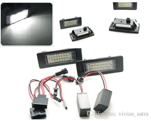 Car LED License Plate Lights For Audi A6 c7 A1 A7 TT Volkswagen VW Golf 6 Passat B6 B7 Polo 4D Jetta MK6 Touran Touareg