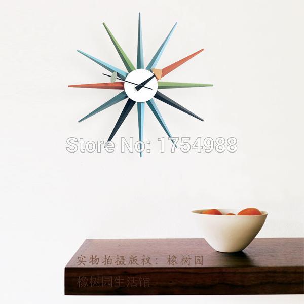 Living Room Wall Clocks Designer Sun Clock Nelson Sunburst Clock ...