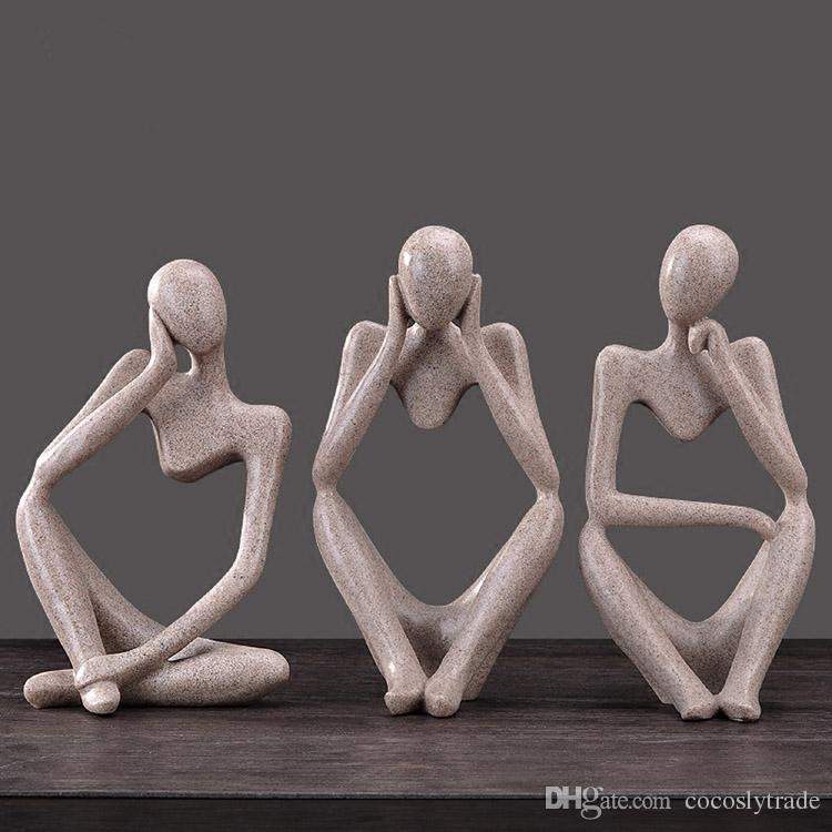 3 стили современные люди творческие ремесла, характер орнамент офис украшения искусства цифры Бесплатная доставка через EUB