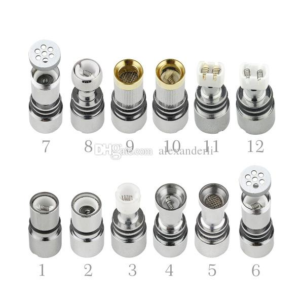Hot Sale Glass Tanks Skull Glass Tank Wax Dry Herb Vaporizer Globe Tank Atomizer Clearomizer for E Cigarette With Replacement Coils