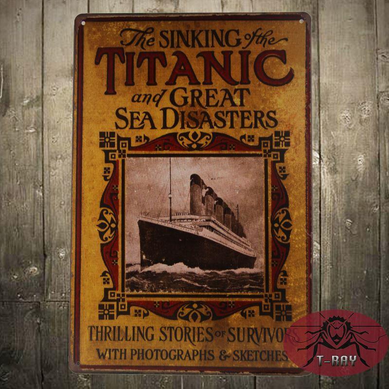 Best Titanic Hand Made Wall Art Metal Decor Posters Tin Sign, Bar ...