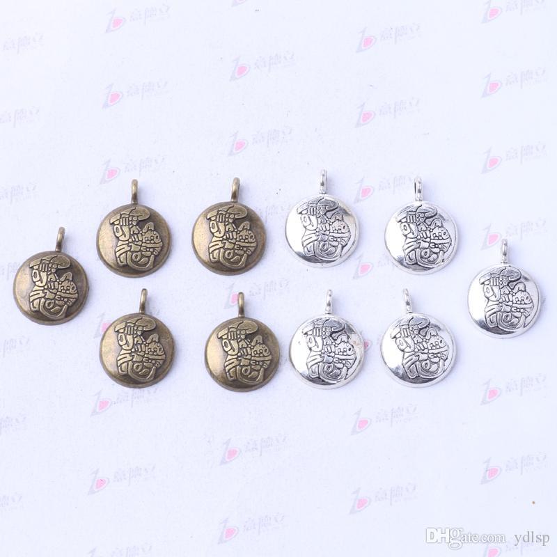 DIY retro antigo de Prata / homem de bronze encantos liga jóias fit Colar ou Pulseiras pingente 250 pçs / lote 3059z