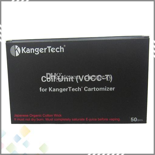Bobina di ricambio VOCC-T originale Kanger VOCC T Bobina di ricambio adatta Kangertech Toptank Evod Emow Evod 2 T3D Upgrade Dual Coils VOCC DHL Free