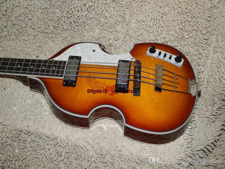 High quality 4 Strings Bass Guitar Sunburst Violin Style Bass Electric Bass